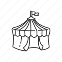 carnival, circus, circus tent, fair, fun, tent icon