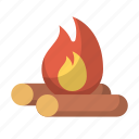 bonfire, camp, campfire, camping, fire, outdoors, wood icon