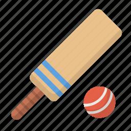 ball, bat, cricket, new zealand, sport icon