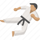 arts, fight, judo, karate, martial, ninja, taekwondo icon