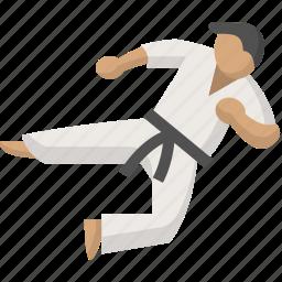 arts, fight, judo, karate, martial, ninja, taekwondo icon