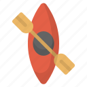boat, canoeing, kayak, kayaking, river, water icon