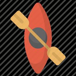 boat, canoeing, kayak, kayaking, river, water icon
