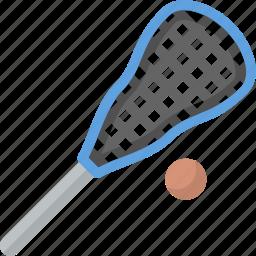 equipment, lacrosse, play, sport, stick, team icon