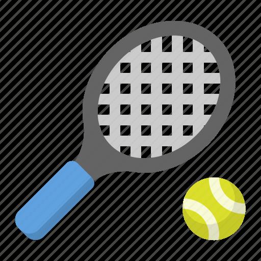 ball, racket, tennis icon