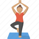 exercise, fitness, meditation, stretch, workout, yoga, zen icon