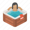 bath, chill, hottub, leisure, relax, sauna, spa icon