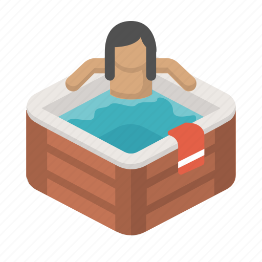bath, chill, hottub, leisure, relax, sauna, spa icon