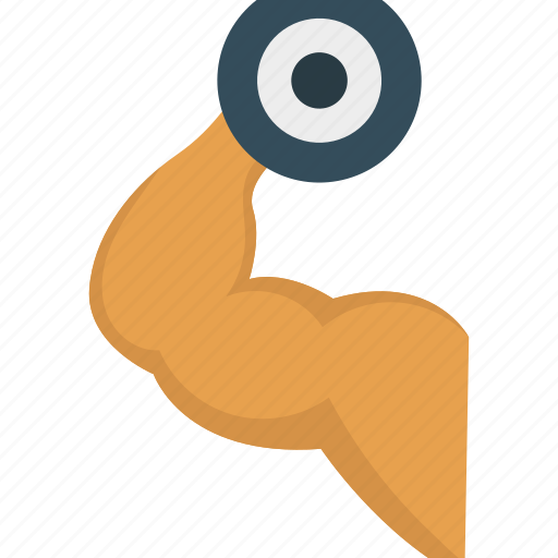 activity, bicep, exercise, gym icon