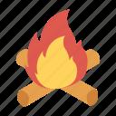 activity, burn, campfire, outdoor icon