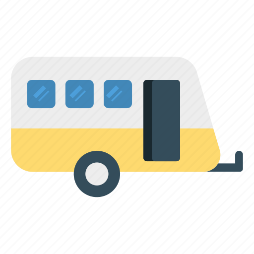 activity, caravan, trailer, travel icon