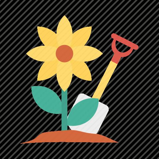 activity, gardening, plant, sunflower icon