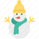 activity, christmas, holiday, snowman icon