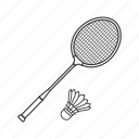 badminton, emoji, hobby, racket, racquet, shuttlecock, sport icon