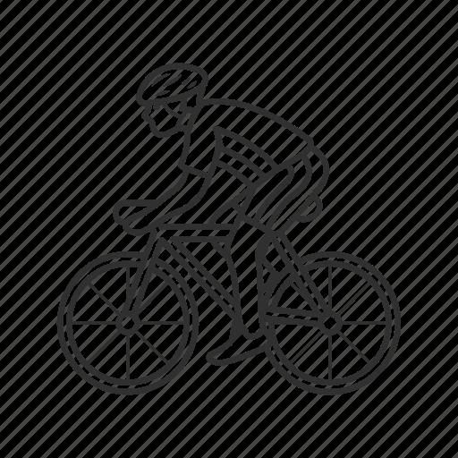 bicycle, bicyclist, bike riding, cyclist, emoji, guy riding bike, ride bike icon
