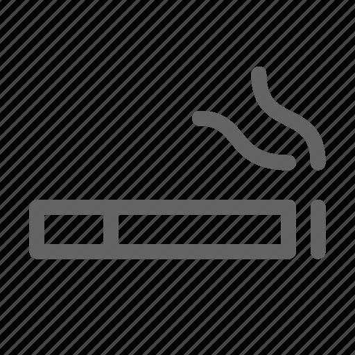 addiction, cigarette, smoke icon
