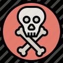 danger, dead, death, healthcare, medical, miscellaneous, skull icon