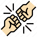 bump, conflict, fight, fighting, fist, gestures, hands icon