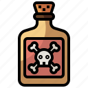 and, container, danger, healthcare, medical, poison, risk, skull, toxic icon