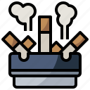 ashtray, cigar, furniture, healthcare, medical, smoke, tobacco