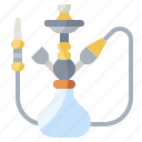 hookah, cultures, pipe, smoke, miscellaneous, tobacco, hobbies icon