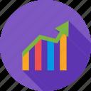 arrow, bar chart, chart, finance, graph, report, statistics