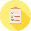bulleted list, chart, checklist, document, list, numbered, tasks icon