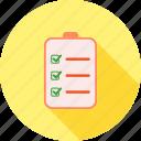 bulleted list, chart, checklist, document, list, numbered, tasks