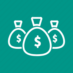 cash, currency, dollar, earning, income, money bag, savings icon