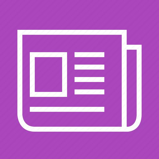 communication, data, information, news, newspaper, print media, report icon