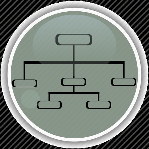 administrative, chart, diagram, hierarchy, organization icon