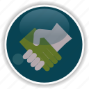 administrative, agreement, contract, handclasp icon