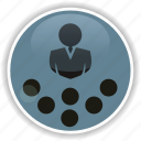 administrative, business, lecture, management, speech icon