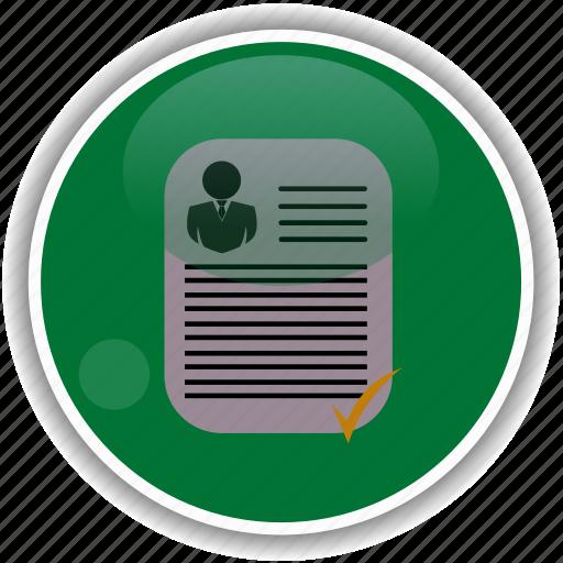 administrative, approve, check, cv, employment icon