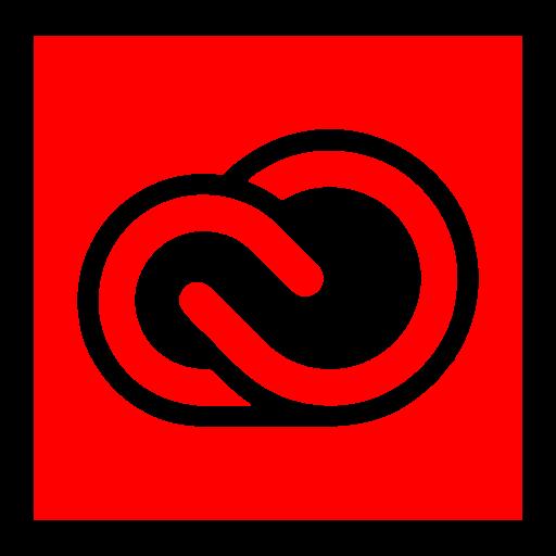 adobe, cc, cloud, creative icon