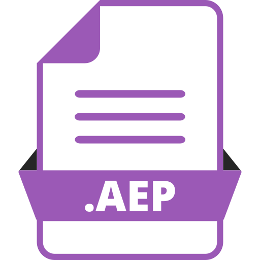 adobe after effects, adobe file extensions, aep, document, extension icon, file, file format icon