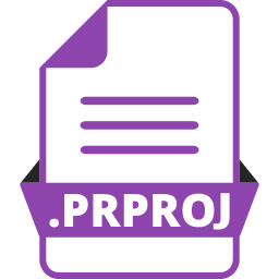 adobe file extensions, adobe premiere pro, document, extension icon, file, file format, prproj icon