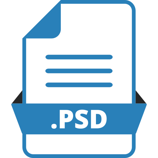 adobe file extensions, adobe photoshop, document, extension icon, file, file format, psd icon