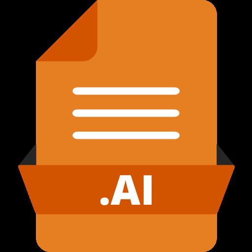 adobe file extensions, adobe illustrator, ai icon, document, extension icon, file, file format icon