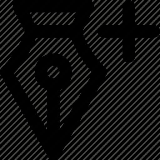 add, anchor, anchor point, foutain pen, illustrator, pen icon