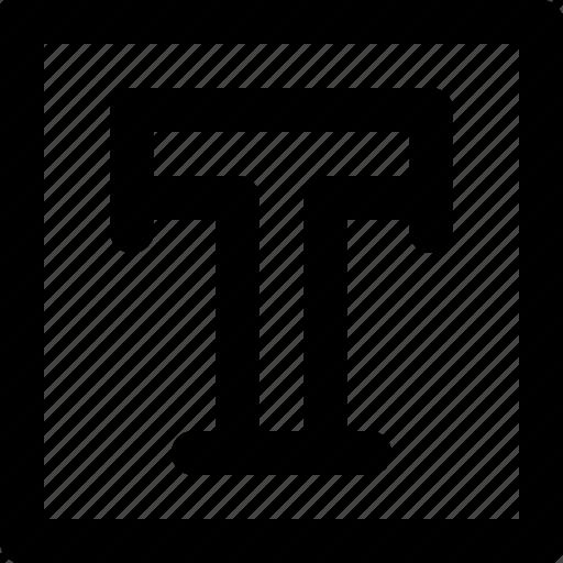 area, font, illustrator, text, type, typography, typography design icon