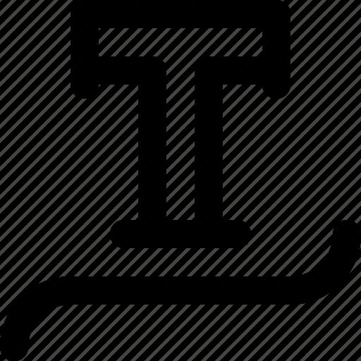 font, illustrator, path, text, type, typography, typography design icon