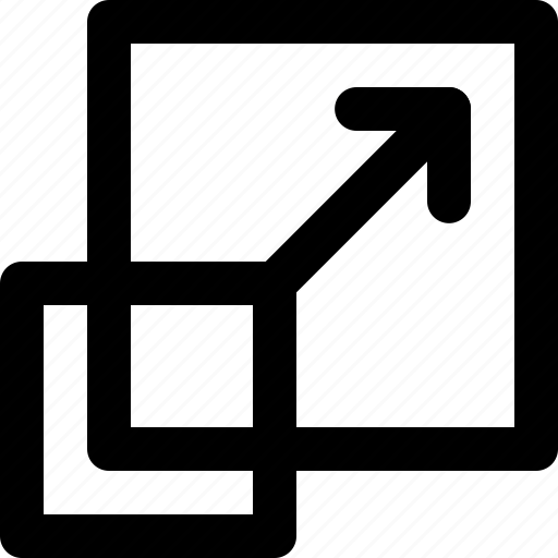 drawing tool, illustrator, measure, resize, scale, shorten, transformation icon