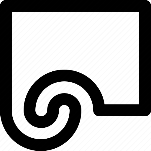 curl, illustrator, reshape, shape, spiral, tool, twirl icon