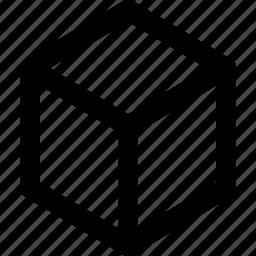 block, box, cube, dice, perspective, polygon, selection icon