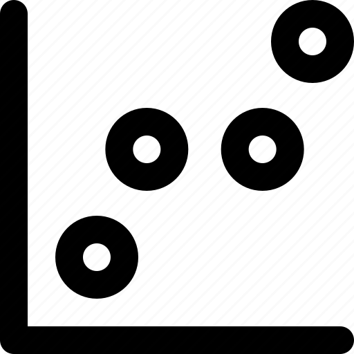 chart, figures, graph, illustrator, math, scatter, statistics icon