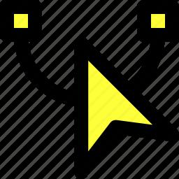 anchor, anchor point, arrow, pointer, reshape, selection, vector illustration icon