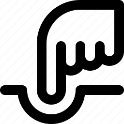 hand, illustrator, point, pointer, poke, reshape, warp icon
