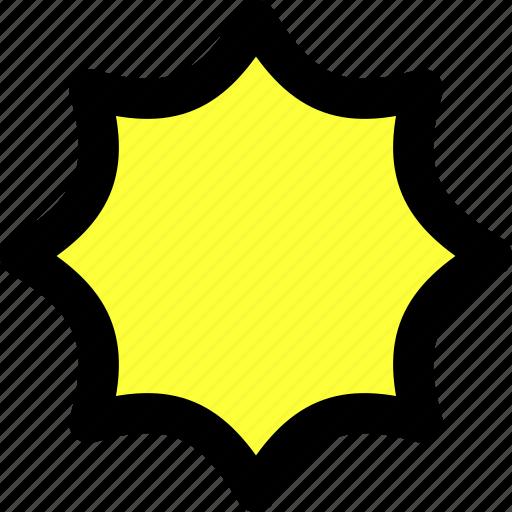 bubble, comic, crystallize, illustrator, reshape, shape, star icon