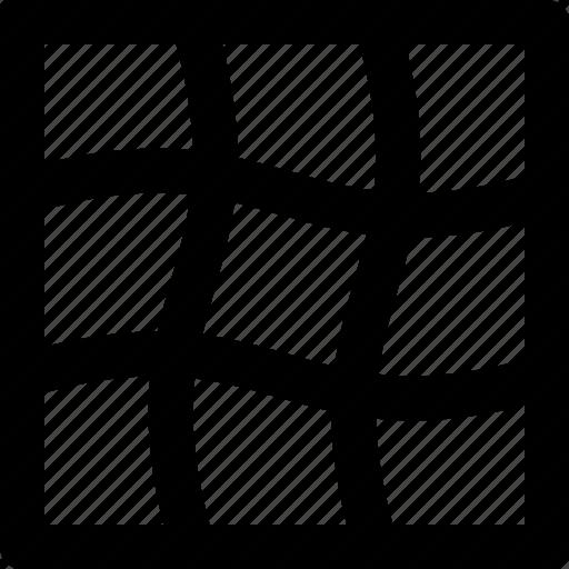deform, illustrator, mesh, net, wave, wavy icon